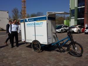 Gutachterbegehung: Lastenrad der Velogikas